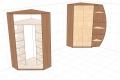 угловой шкаф с консолью и наполнением